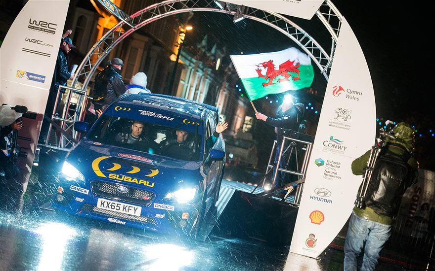 2015 Wales Rally GB in Progress