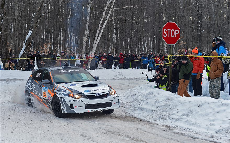 Lasek & Drew On Pace at Sno*Drift in their WRX STI