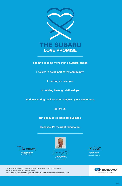 The Subaru Love Promise