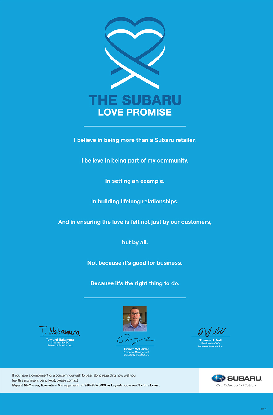 The Subaru Love Promise