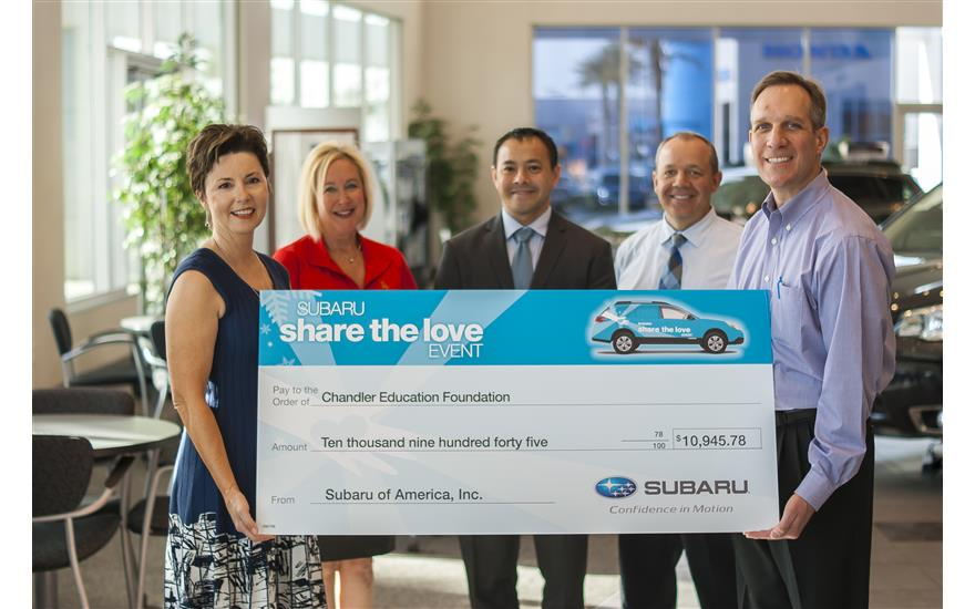 Subaru Superstore Partners With the Chandler Education Foundation