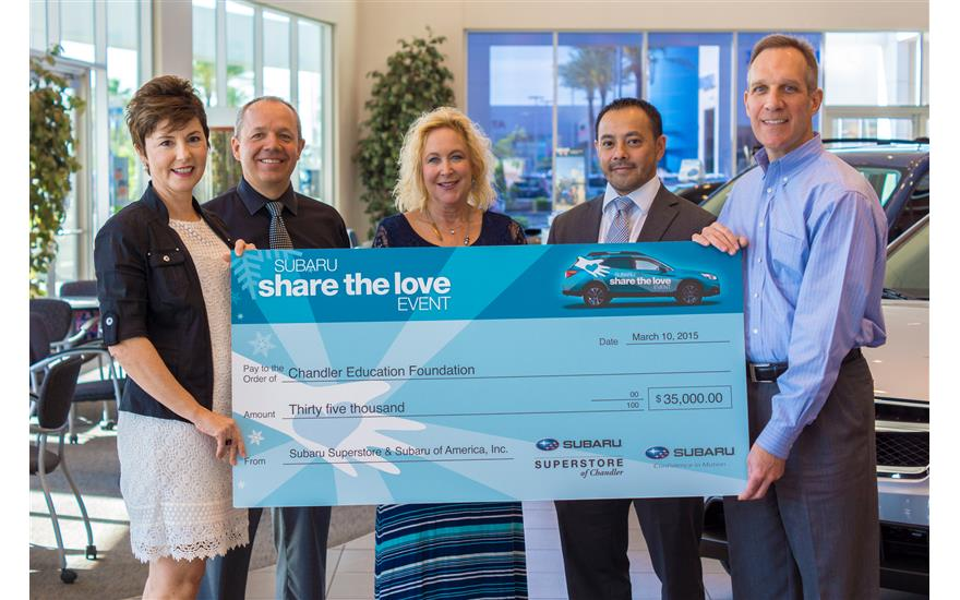 Subaru Presents $35,000 for Local Scholarships